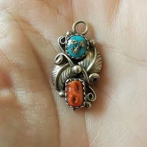 Jewelry - Old Pawn Silver and Turquoise Pendant